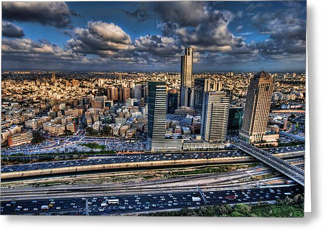 Israeli Digital Greeting Cards - My Sim City Greeting Card by Ron Shoshani