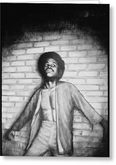 African American Art Drawings Greeting Cards - My Son My Son Greeting Card by Mountain Dreams