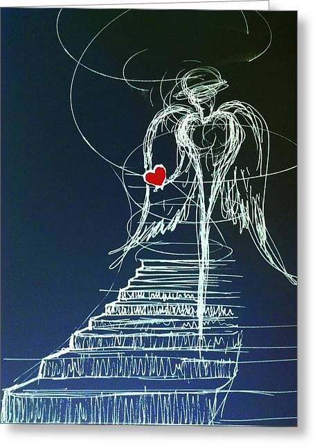 Instagood Greeting Cards - My Soul awaits with Love at hand Greeting Card by Giorgio Tuscani