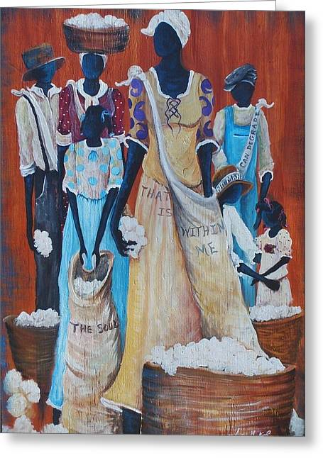 African Heritage Greeting Cards - My Soul Greeting Card by Sonja Griffin Evans