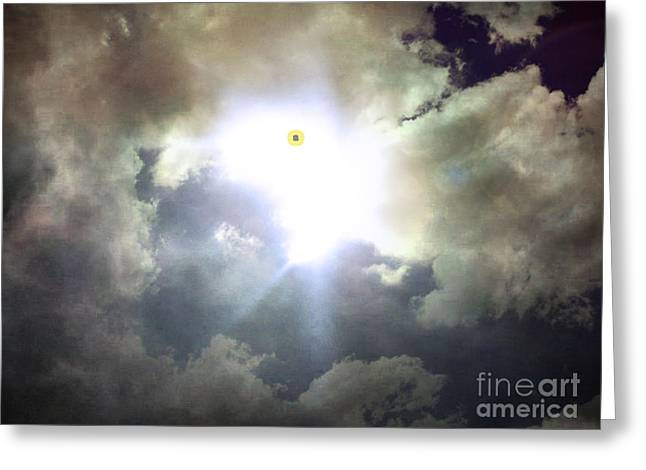 Sun Breakthrough Greeting Cards - My Soul Up There Greeting Card by Joe A