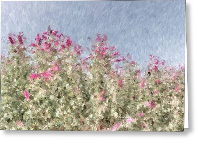My Spring Garden - Impressionism Greeting Card by Heidi Smith