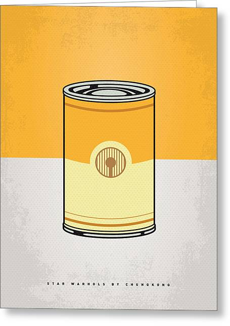 Concept Digital Art Greeting Cards - My Star Warhols 3cpo Minimal Can Poster Greeting Card by Chungkong Art