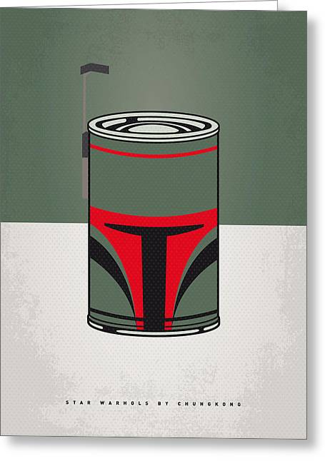 Concept Art Greeting Cards - My Star Warhols Boba Fett Minimal Can Poster Greeting Card by Chungkong Art