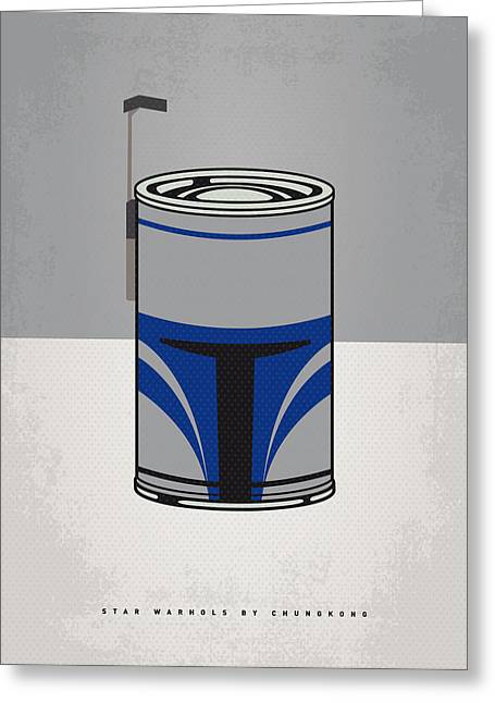Can Greeting Cards - My Star Warhols Jango Fett Minimal Can Poster Greeting Card by Chungkong Art