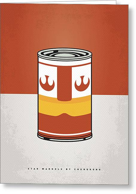 Kid Greeting Cards - My Star Warhols Luke Skywalker Minimal Can Poster Greeting Card by Chungkong Art