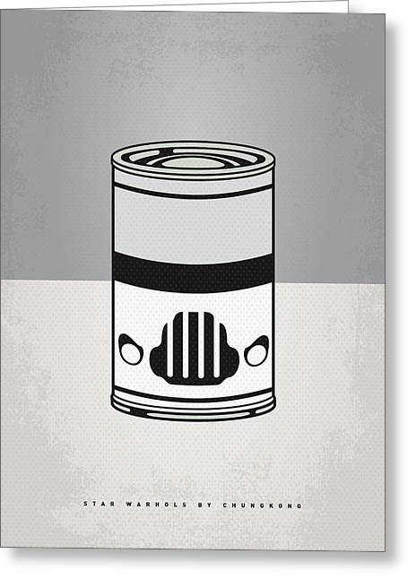 Warhol Greeting Cards - My Star Warhols Stormtrooper Minimal Can Poster Greeting Card by Chungkong Art