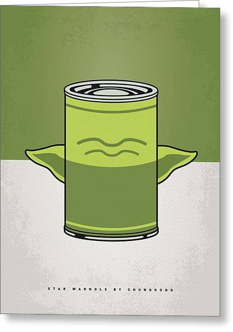 Warhol Greeting Cards - My Star Warhols Yoda Minimal Can Poster Greeting Card by Chungkong Art