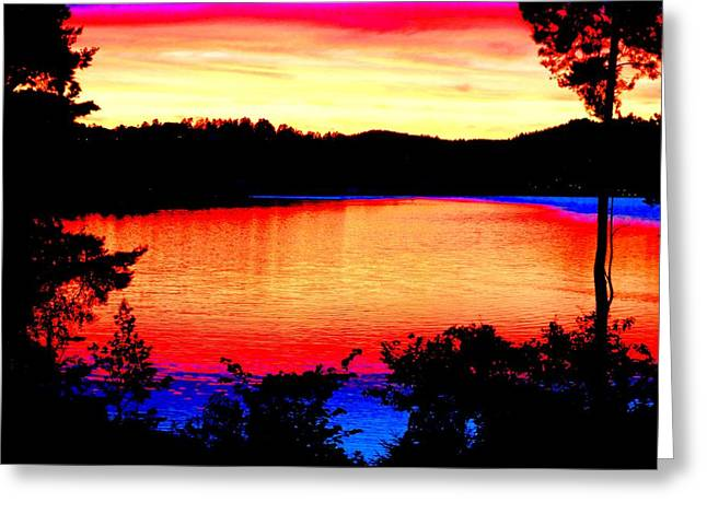 Norwegian Sunset Greeting Cards - My Sunset Greeting Card by Hilde Widerberg
