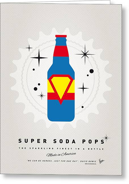Funny Greeting Cards - My SUPER SODA POPS No-05 Greeting Card by Chungkong Art