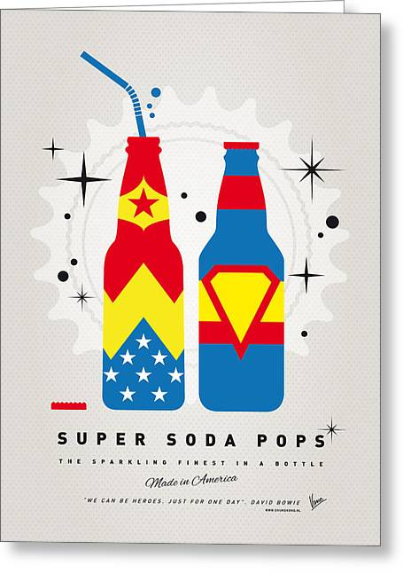 Funny Greeting Cards - My SUPER SODA POPS No-06 Greeting Card by Chungkong Art