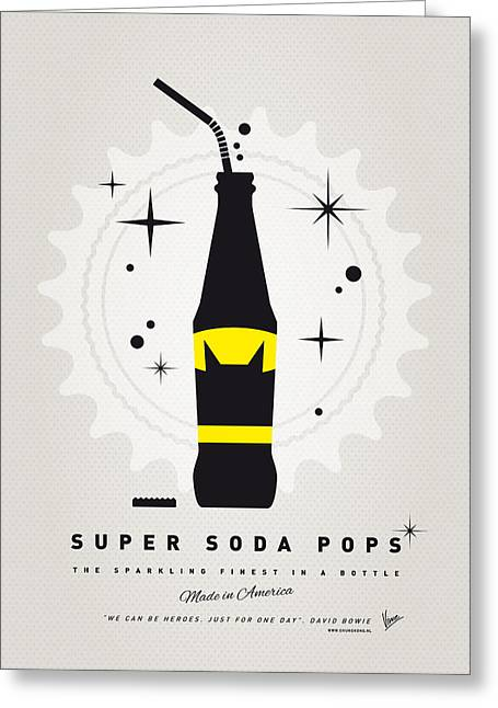 Batman Greeting Cards - My SUPER SODA POPS No-07 Greeting Card by Chungkong Art
