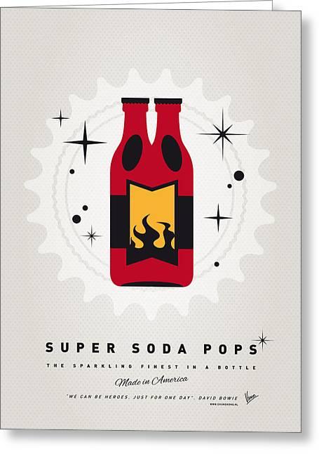 Superheroes Greeting Cards - My SUPER SODA POPS No-08 Greeting Card by Chungkong Art
