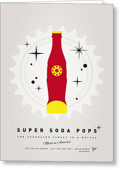 Funny Greeting Cards - My SUPER SODA POPS No-09 Greeting Card by Chungkong Art
