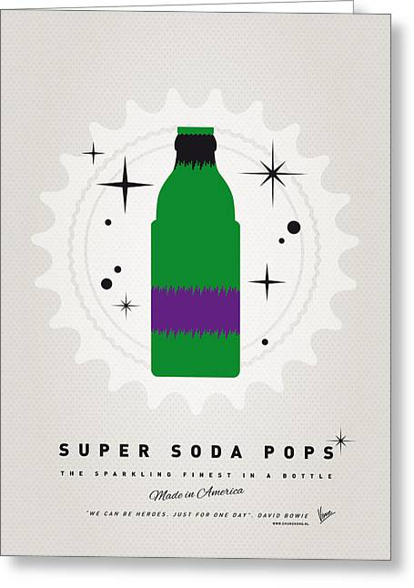 Funny Greeting Cards - My SUPER SODA POPS No-11 Greeting Card by Chungkong Art