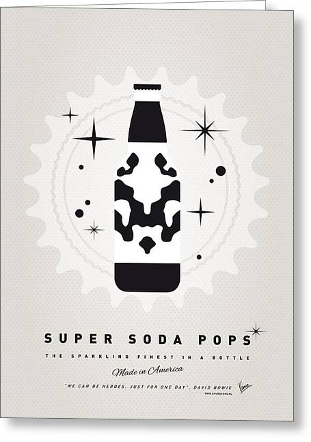 Superheroes Greeting Cards - My SUPER SODA POPS No-12 Greeting Card by Chungkong Art