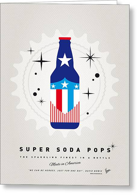 Captain America Greeting Cards - My SUPER SODA POPS No-14 Greeting Card by Chungkong Art