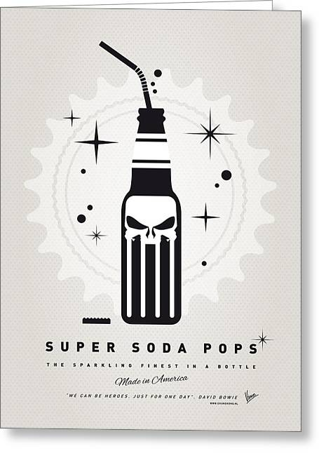 Funny Greeting Cards - My SUPER SODA POPS No-15 Greeting Card by Chungkong Art