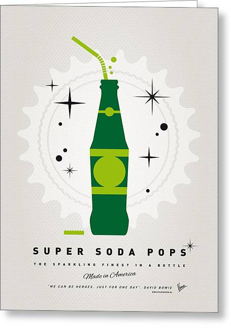 Arrow Greeting Cards - My SUPER SODA POPS No-20 Greeting Card by Chungkong Art