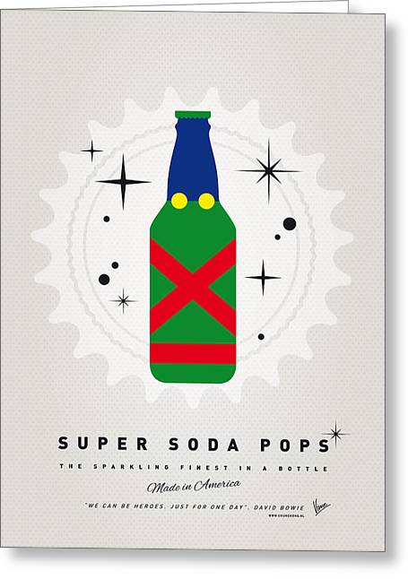 Martians Greeting Cards - My SUPER SODA POPS No-21 Greeting Card by Chungkong Art