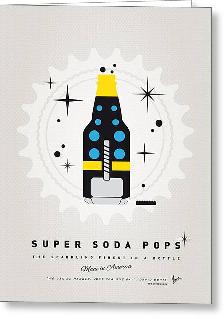 Superheroes Greeting Cards - My SUPER SODA POPS No-22 Greeting Card by Chungkong Art