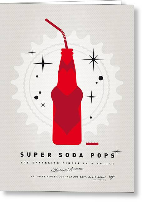 Superheroes Greeting Cards - My SUPER SODA POPS No-23 Greeting Card by Chungkong Art