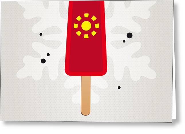 My SUPERHERO ICE POP - Iron Man Greeting Card by Chungkong Art