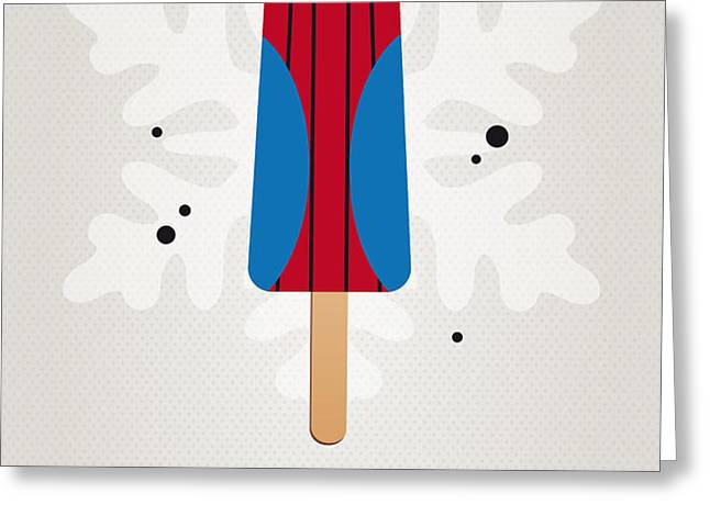 My SUPERHERO ICE POP - Spiderman Greeting Card by Chungkong Art