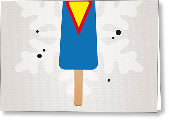 My SUPERHERO ICE POP - Superman Greeting Card by Chungkong Art