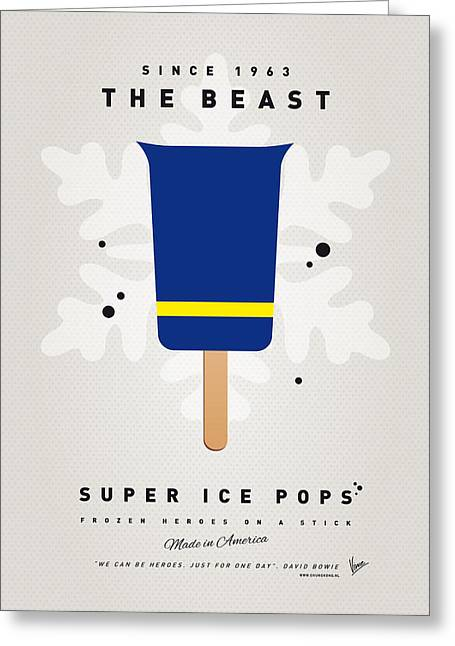 Beast Greeting Cards - My SUPERHERO ICE POP - The Beast Greeting Card by Chungkong Art