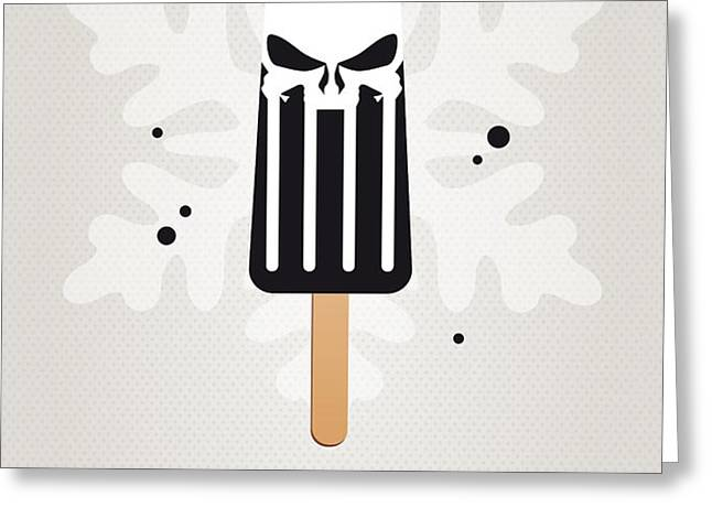 My SUPERHERO ICE POP - The Punisher Greeting Card by Chungkong Art