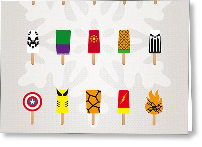 My SUPERHERO ICE POP UNIVERS Greeting Card by Chungkong Art