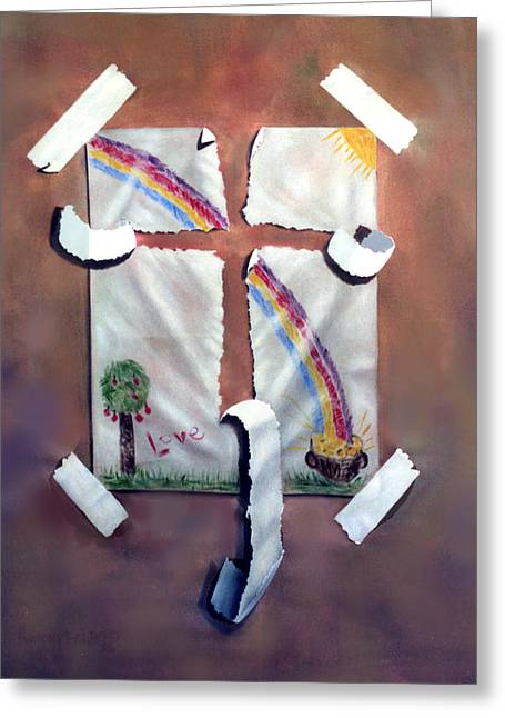 My Art Greeting Cards - My Testimony Greeting Card by Anthony Falbo