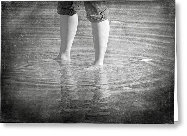 Reflection In Water Greeting Cards - My Time Greeting Card by Steven  Michael