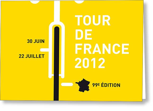 MY Tour de France 2012 minimal poster Greeting Card by Chungkong Art