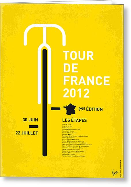 Tour Greeting Cards - My Tour De France Minimal Poster 2012 Oud Greeting Card by Chungkong Art