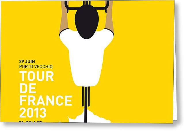 MY TOUR DE FRANCE MINIMAL POSTER Greeting Card by Chungkong Art
