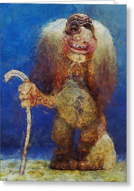Abnormal Greeting Cards - My Troll Greeting Card by Jack Zulli
