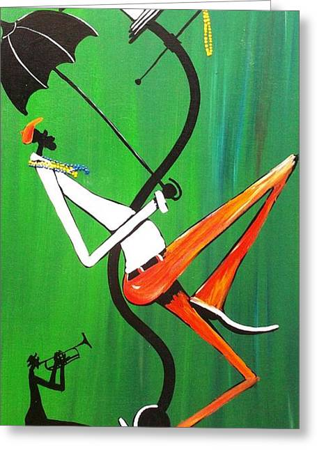 My Trumpet Shadow Greeting Card by Guilbeaux Gallery