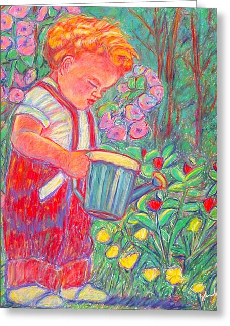 Impressionist Greeting Cards - My Turn Greeting Card by Kendall Kessler