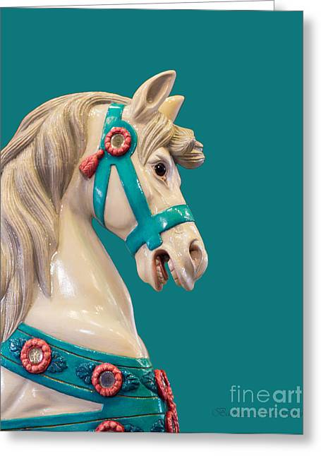 Looff Greeting Cards - My Turquoise Pony Greeting Card by Barbara McMahon