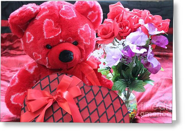Stuffy Greeting Cards - My Valentine Greeting Card by Danielle Whitney