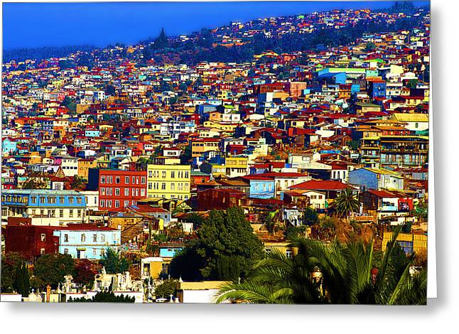 My Valparaiso Greeting Card by Kurt Van Wagner