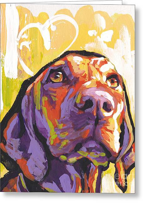 Kid Paintings Greeting Cards - My Vizsla Heart Greeting Card by Lea