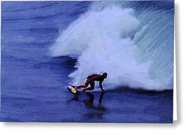 California Big Wave Surf Greeting Cards - My Wave Greeting Card by Ron Regalado