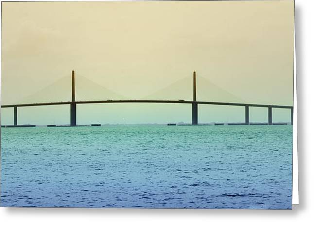 St Petersburg Florida Greeting Cards - My Way or the Skyway Greeting Card by Bill Cannon