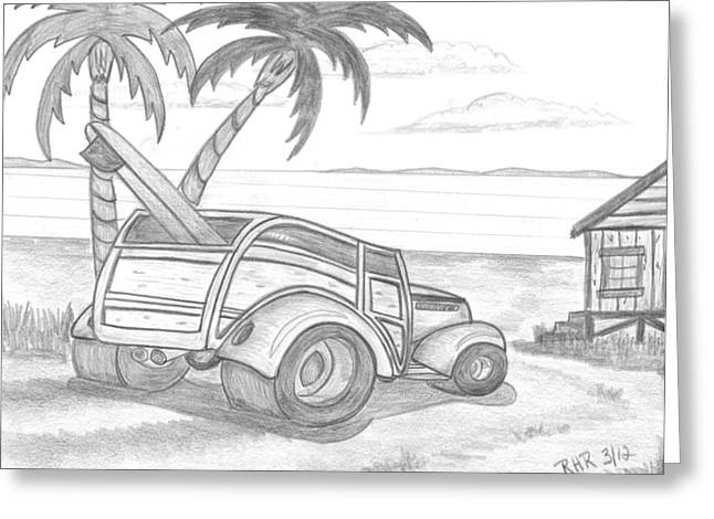 Shack Drawings Greeting Cards - My Woody Greeting Card by Ray Ratzlaff