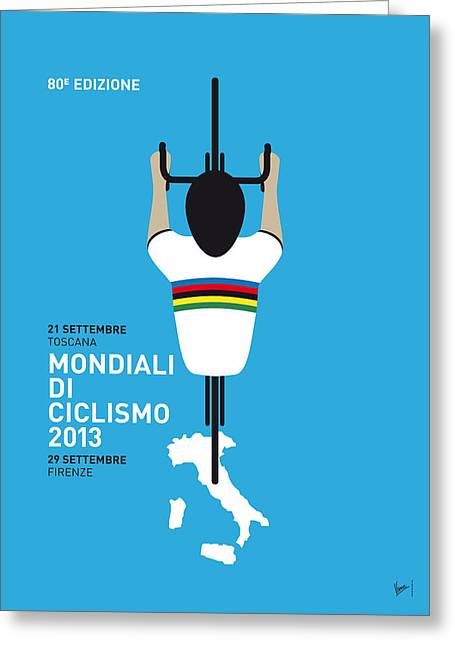 Contador Greeting Cards - MY World Championships MINIMAL POSTER Greeting Card by Chungkong Art