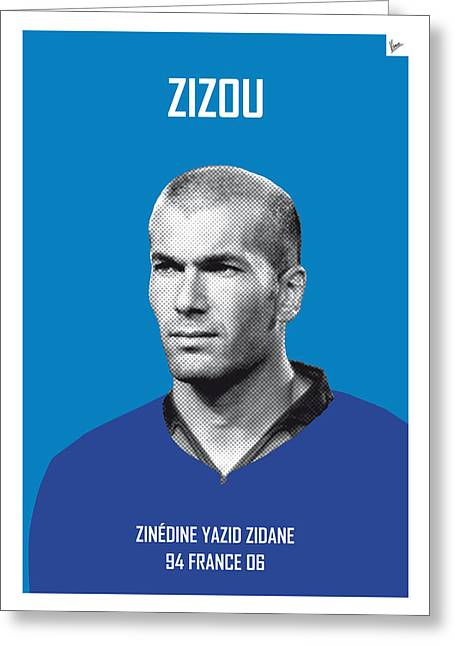 My Zidane Soccer Legend Poster Greeting Card by Chungkong Art