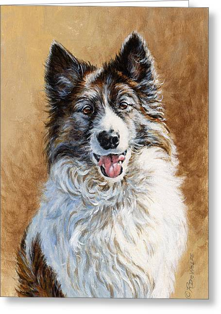 Collie Greeting Cards - Mya Greeting Card by Richard De Wolfe